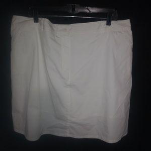 Lovely White Cotton Skort 18W Plus